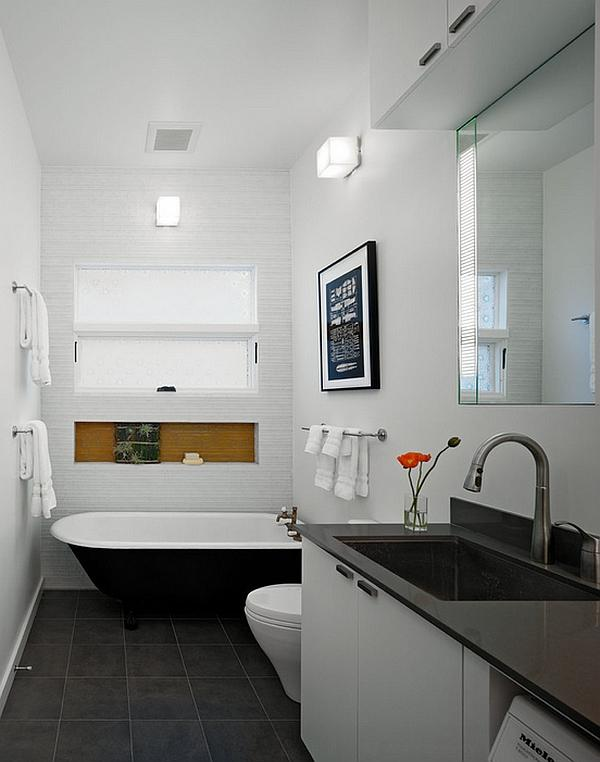 Un bagno piccolo ma essenziale