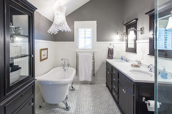 Bagni moderni di bianco e nero - Casafan