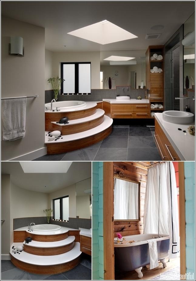 Un elegante bagno in legno