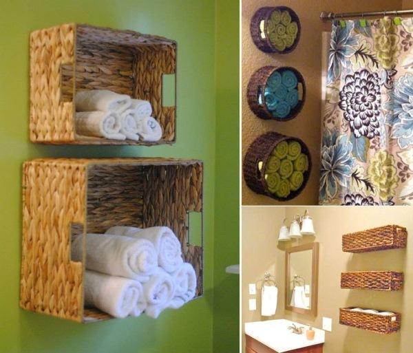 Riutilizzare cestini in legno in bagno. Scopri come!