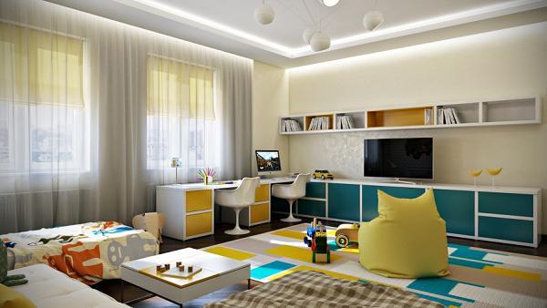 Altra ottima scelta cromatica: le stanze dei bambini devono essere colorate!