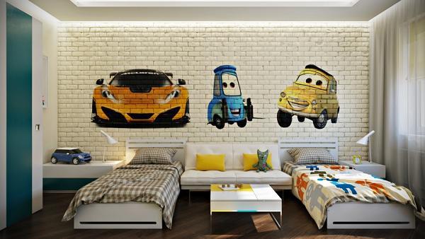 Il murales rende la stanza più simpatica