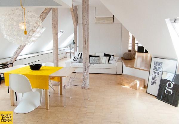 Anche in questo altro appartamento sono i dettagli (e i colori) a far la differenza
