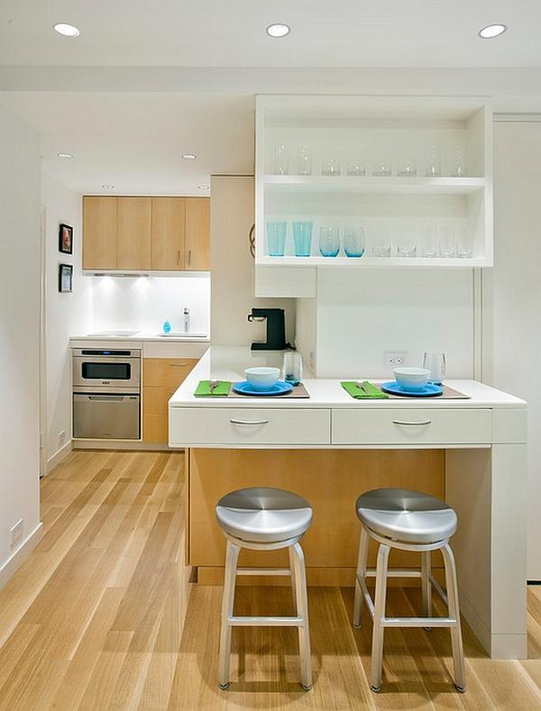 Una micro cucina per i mini-appartamenti