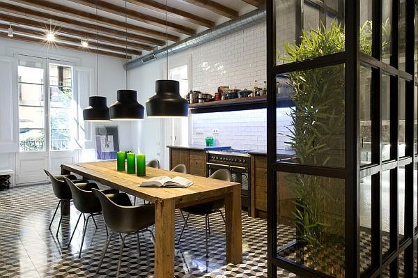 Le pareti verdi sono utilizzate come divisori