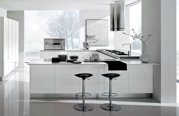 Cucina bianca, semplice ed essenziale. La vogliono tutti così!