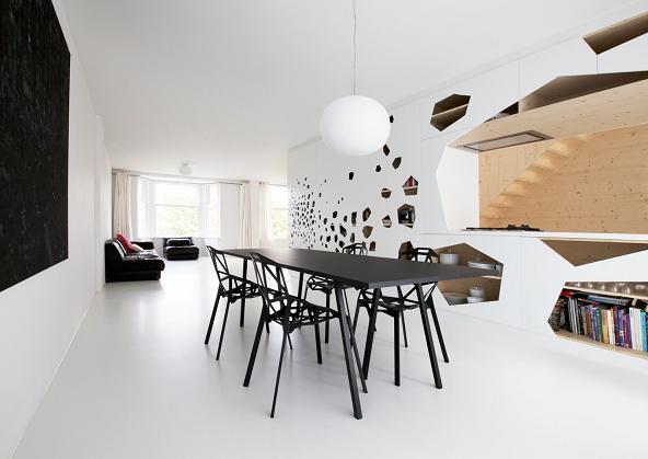 Il soggiorno essenziale e pulito