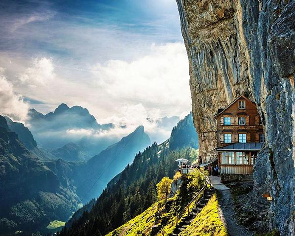 Äscher Cliff Restaurant, Svizzera