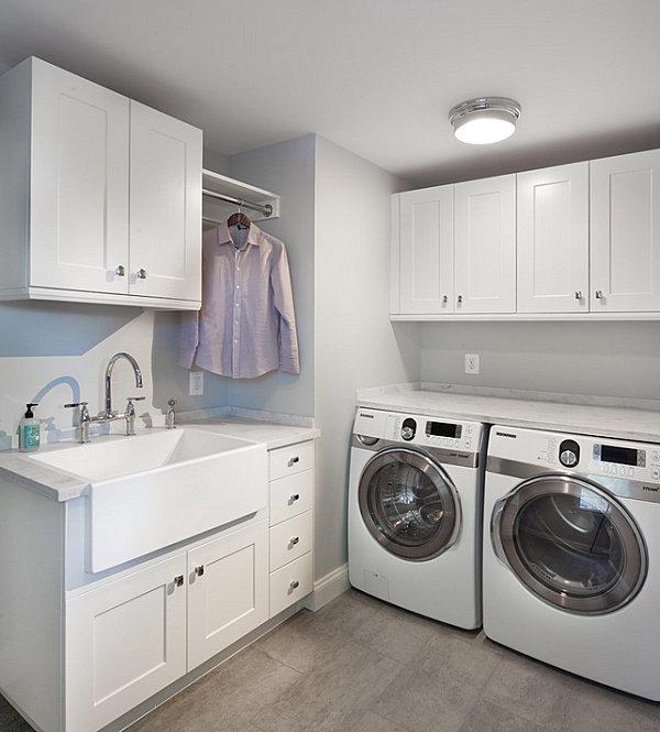 Una lavanderia dallo stile moderno e dalla massima praticità