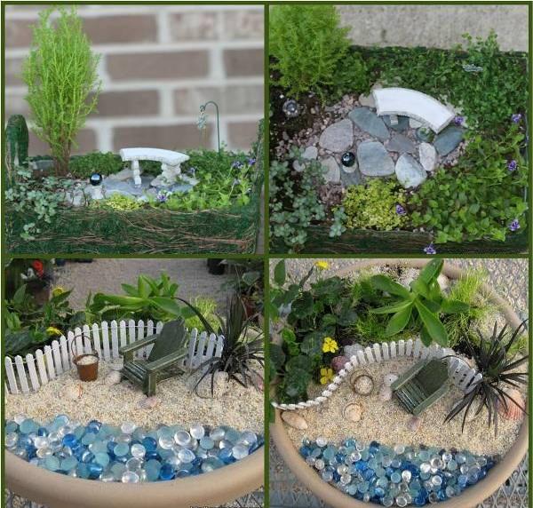 A colpire in questo giardino sono i dettagli e le proporzioni: tutte perfette