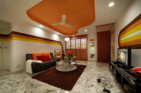 Questo soggiorno sembra il set di una serie TV ambientata negli anni 70