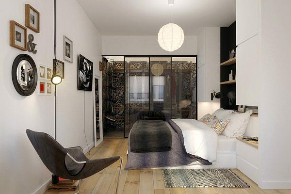 La camera da letto è semplice ma elegante
