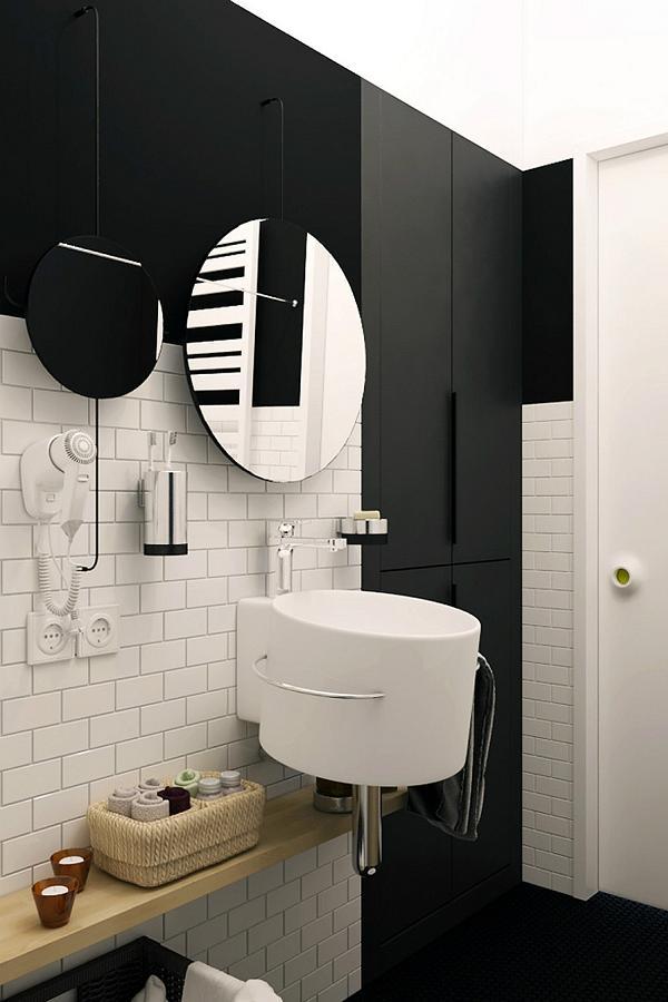 Il bagno è all insegna dell essenziale, ma con stile