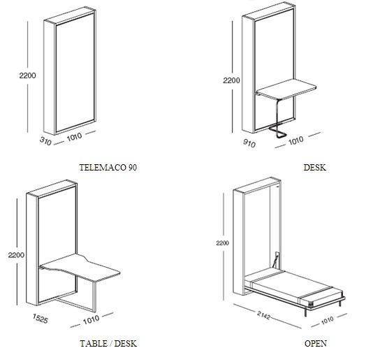 Ecco le varie dimensioni del letto. È la soluzione giusta anche per voi?