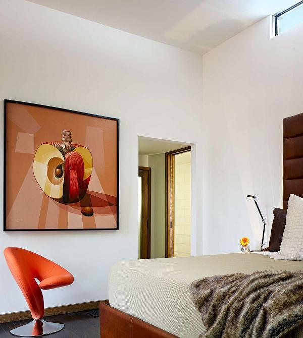 Dettagli moderni per la camera da letto