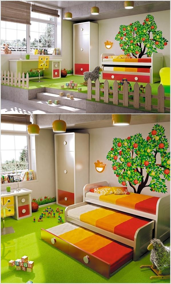 5 favolose idee letto per camerette per tre figli