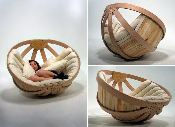Una sedia-culla confortevole e rilassante