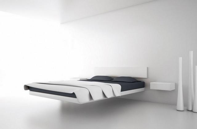 Un letto fuori dal comune: floating bed