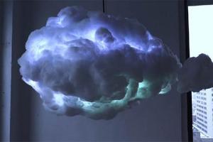 Il lampadario tempestoso che simula un temporale