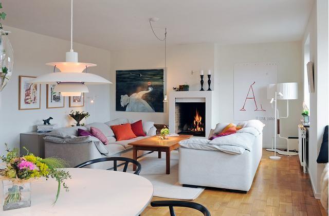 Arredamento in stile nordico: tanta luce e colore