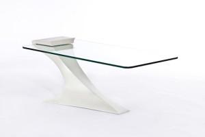 Elegantissimo tavolo di cristallo e acciaio