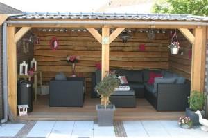 Arredare una veranda coperta per un'estate di relax