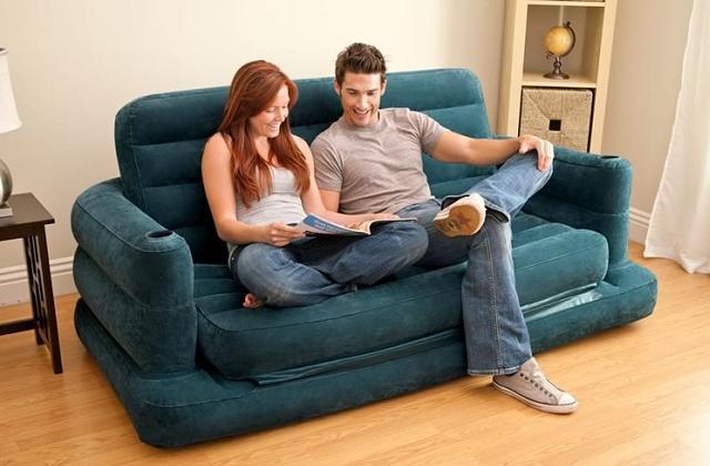 Divano letto gonfiabile matrimoniale Intex Airbed