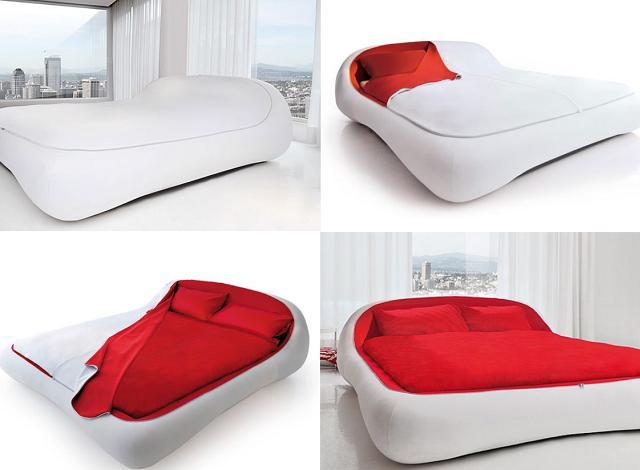 Il letto con la zip