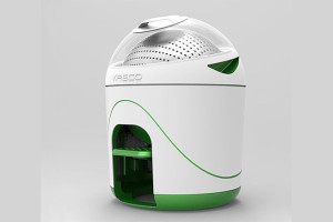 Una lavatrice senza elettricità, piccola e compatta