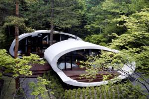 La Shell House dell'architetto Kotaro Ide