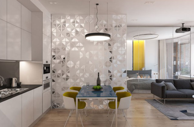 Ottimizzare i piccoli spazi con le pareti di vetro for Arredamento per piccoli ambienti