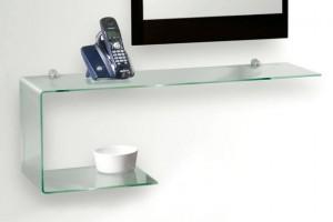 Le mensole in vetro, un'alternativa alle classiche mensole in legno
