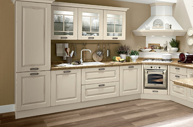 Cucine in legno moderne e classiche (tradizionali, vintage ...