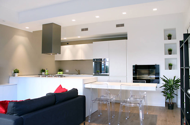 arredare una cucina a vista: idee ed esempi di arredamento ... - Soggiorno Living Con Cucina A Vista 2