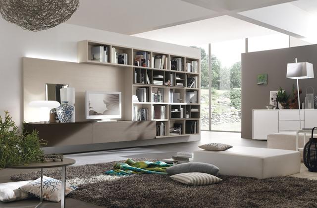 mobili grigi salotto