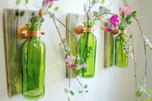 Come riciclare bottiglie di vino e birra per trasformarle in oggetti di design