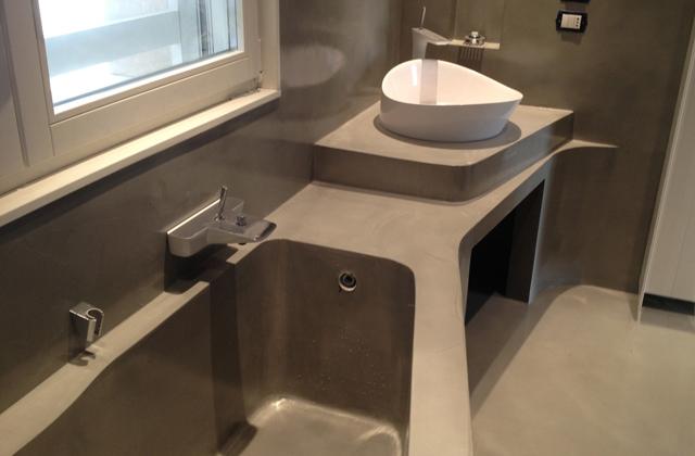 Il bagno con una vasca di cemento pagina 2 di 3 - Vasca da bagno in cemento ...