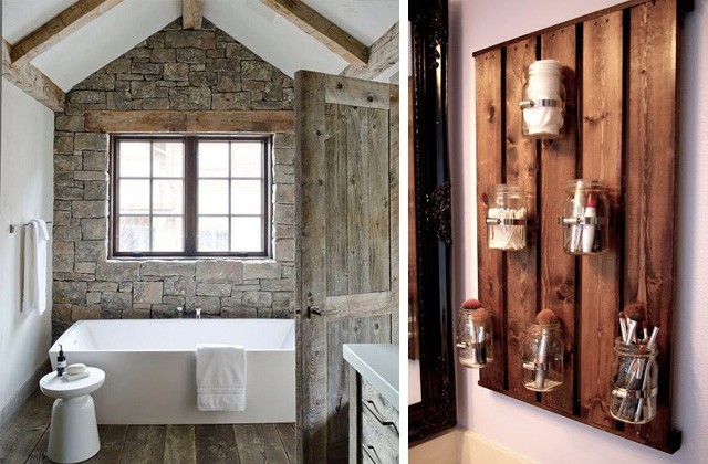 Per realizzare un bagno in stile rustico esistono alcune soluzioni che ...