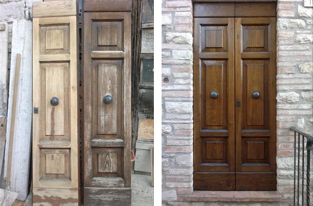 Restaurare una vecchia porta di legno con una minima spesa