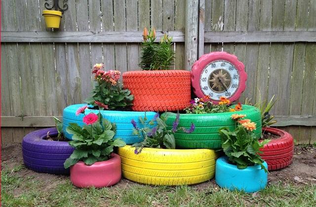 Idee fai da te: riciclare i pneumatici