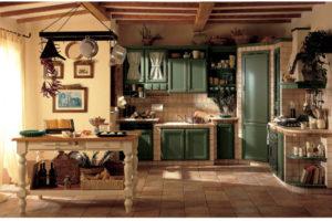 Decorare la cucina con un finta muratura