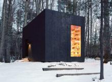 una piccola biblioteca nel bosco
