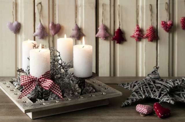 Fai da te decorazioni natalizie in stile country - Decorazioni natalizie country fai da te ...