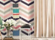 carta da parati vintage a decorazione diagonale