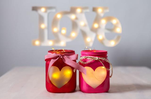 candele fai da te per san Valentino