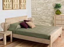 letto in legno naturale