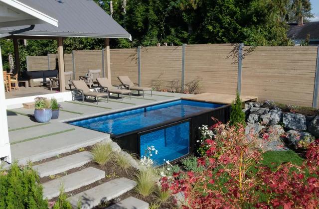 la piscina container che si installa in pochi minuti