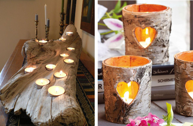 Quando il legno parla originali portacandele fatte a mano - Portacandele natalizi fai da te ...
