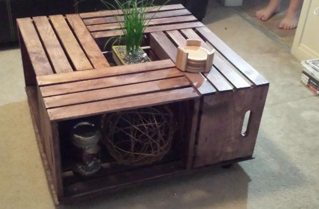Da una cassetta di legno a uno splendido tavolino - Conviene costruire casa prefabbricata ...