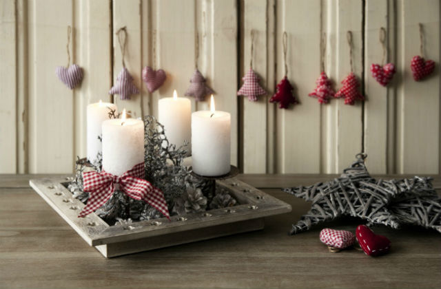 decorazioni natalizie portacandele
